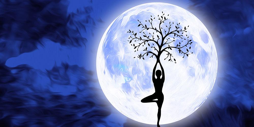 Moond-Frau, Meditation