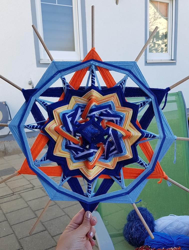 Mandala, sechseckige Lotus
