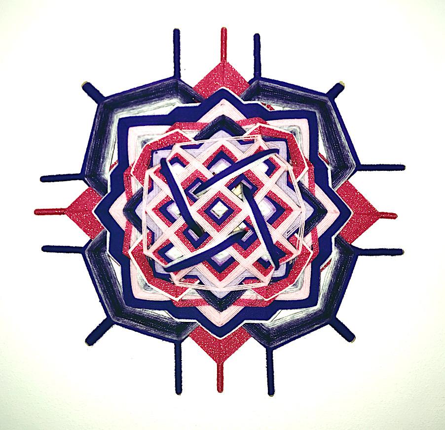 viereckige Mandala Kreativ