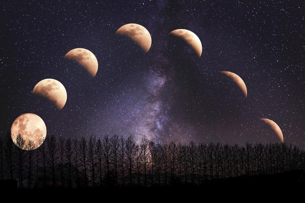 Mondphasen in AstroTimeBeratung