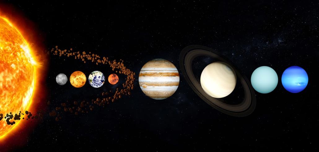 Astro Time Beratung, Planeten reinenfolge